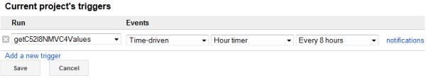 Google Docs script trigger