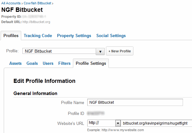 Google Analytics for BitBucket