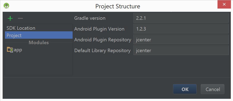 Android Studio Gradle setting